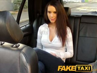 FakeTaxi Cute brunette gets fucked on taxi backseat - Porn Video 461