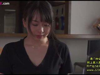 brunetă, japonez, sărutat, sex vaginal