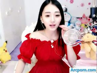 webcam, meitene, ķīniešu, asian