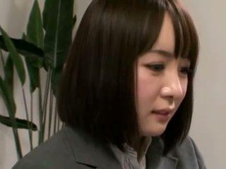controleren brunette scène, vers orale seks film, plezier japanse scène