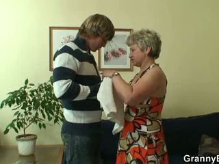 Young stud bangs 60 years old woman