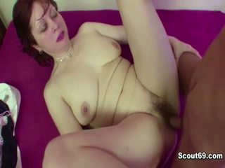 German Step-Mom Seduce 18yr old Step-Son to Fuck