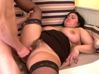 Mature Busty Sexbomb Mom Fucks Not Her Young Son: Porn 34