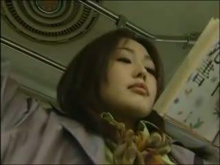 een japanse film, lesbisch klem, kijken bus actie
