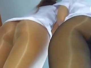 Little Butts in Glossy Pantyhose, Free HD Porn 23
