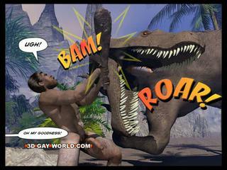 CRETACEOUS COCK 3D Gay Comic Sci-Fi Sex Story