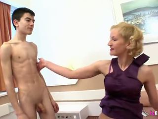Young Jordi and his Friend fuck Mature Lady