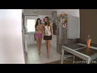 חזה גדול לסבית christina jolie gets שלה gigantic boobies adored על ידי lusty eufrat