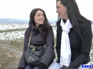 brunette thumbnail, nominale orale seks, zien kaukasisch
