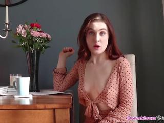 ideaal grote tieten, heet brunette babe film, zien cleavage porno