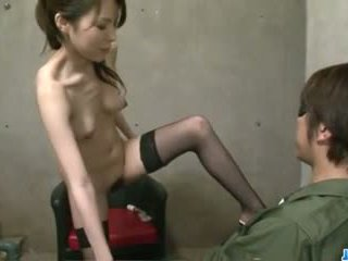 Rino Asuka plays with toys deep down her hairy cherry
