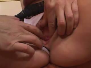 mooi brunette scène, kijken groepsseks film, vers cock sucking tube