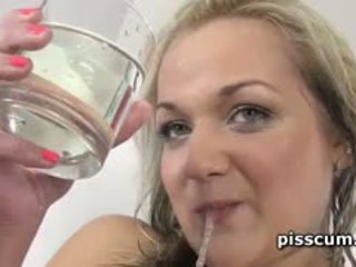 Oxana Drinking Tasty Piss And Sucking Cock