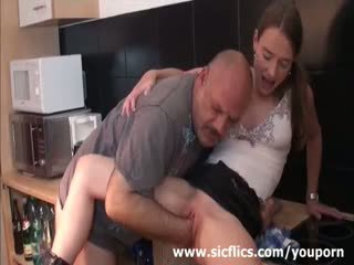 Ceking rumaja brutally fist fucked by a grizzly old pervert