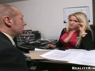 heet grote lullen, office sex actie, kijken uniform