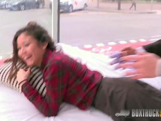 Hot Jade Presley Tries out a Finger Vibrator in Public