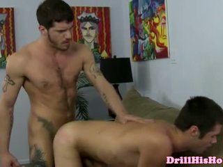 Powerful stud giving rimjob session