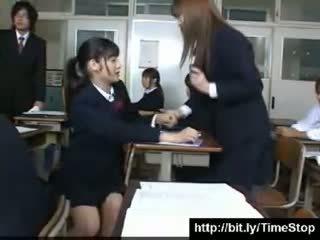 Japanese stop time school girls
