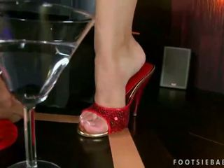 Kortney Kane enjoys hot footsex