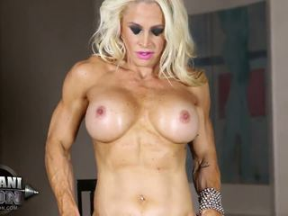 most solo girl, muscular, hottest glamour thumbnail