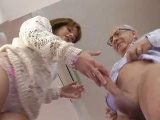 Old Man and a Cute Young Girl, Free Hardcore Porn Video bf