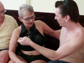 Granny & Husband Invite a Young Stud to Fuck Her: Porn 4e