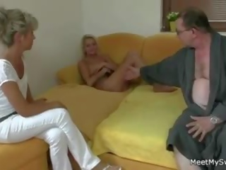 His Old Parents and Young GF get it on, Porn 9b