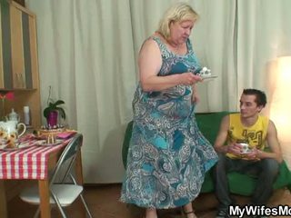 Huge old mother boy fucking action