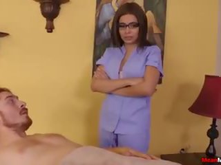 Teen Masseuse Teases Poor Guy Strapped Down: Free Porn 61