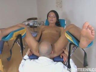 een brunette, pijpbeurt video-, nominale vagina