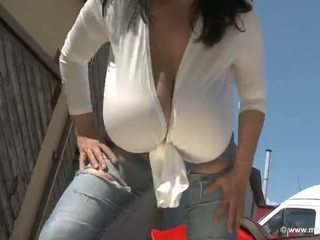 solo girl, huge tits rated, outdoor fun