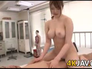 Busty Japanese Babe Riding On A Cock
