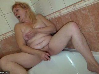 Oldnanny two mesum lesbian woman is enjoying with strapon