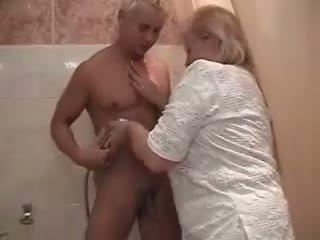 granny, shower best, fat ass