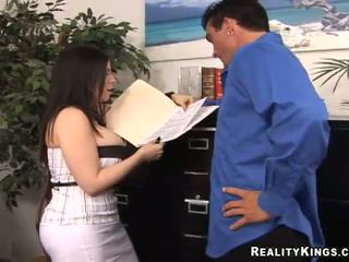 Massive tits business lady Daphne fuckin her clerk
