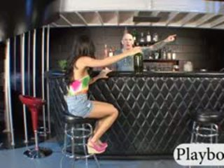 Tight Black Haired Babe Amia Miley Pussy Railed In Restobar
