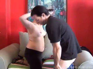 Cute chubby goth loves to suck cock