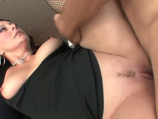 Great Facial for Brunette Mature MILF in Stockings: Porn 93