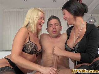 CFNM Femdom Beauties Cockriding in Mff Trio: Free Porn 6c