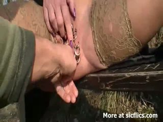 extreem, doordringend scène, plezier vuist neuken sex mov