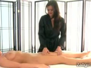Gorgeous Cece Stone Seduces Britney Young With Hot Massage