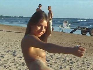 een jong film, heet tiener film, vol strand video-