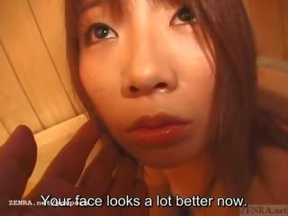 Subtitled defiled japonesa aluna takes um bath