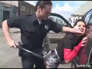 褐髮女郎 屁股 性交 由 角質 警察