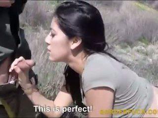 Latina kimberly gates banged qua border patrol sĩ quan