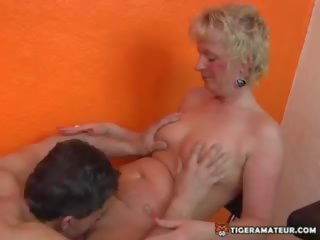 Slutty Amateur Blonde MILF Homemade Action with Her...