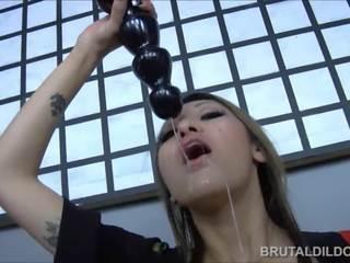 alle brunette seks, een speelgoed seks, kwaliteit vaginale masturbatie