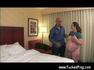 Preggo horny and fucked by and old man