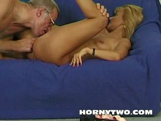 Two Horny Older People Fucking Around and Slim Old...