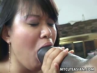 Black Dude Has a Hot Asian Chick to Ravage: Free Porn e9
